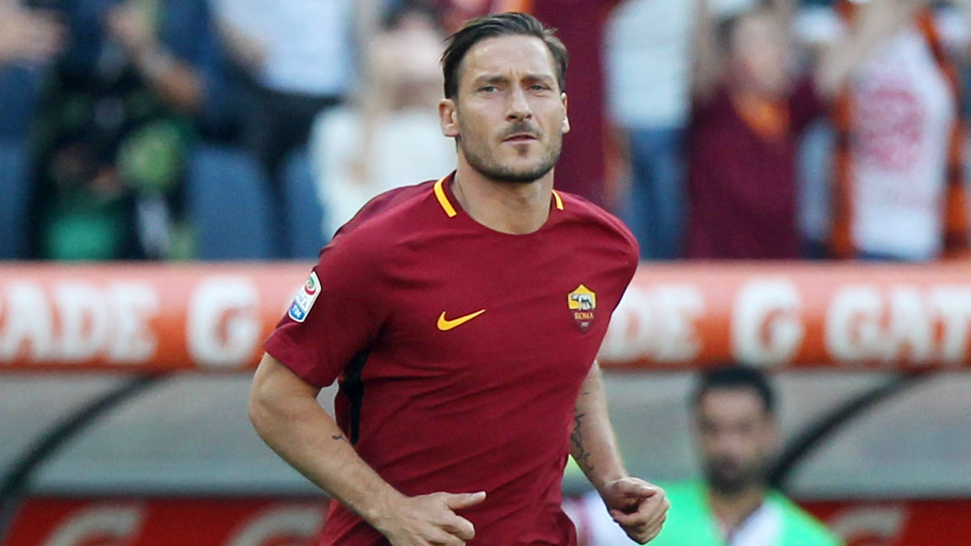 Francesco Totti ting ready for a new adventure