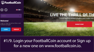 Step 1 of transferring from Counterparty to FootballCoin